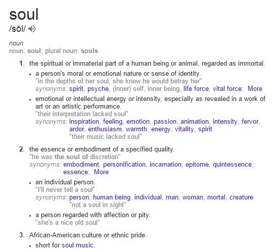 define-soul