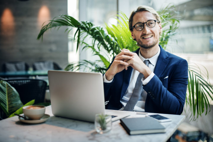 Businessman Analysis Strategy Planning Ideas Concept