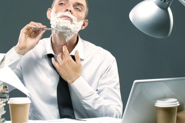 workaholic-shaving